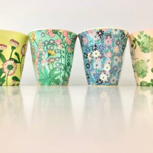 Set of 4 Pretty Floral Cups