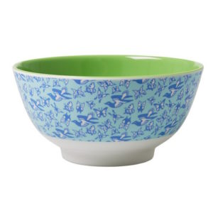 Birds and Butterflies Print Bowl RICE DK