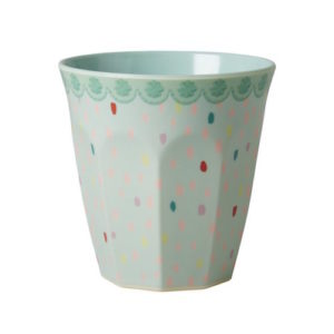 Rain Dot Print Medium Cup RICE DK