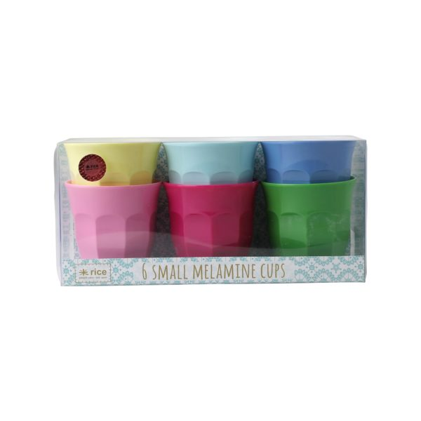 Set of 6 Small Cups Classic Colours RICE DK