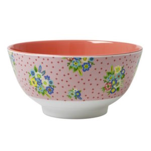 Vintage Flower Print Bowl RICE DK