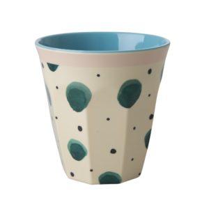 Watercolour Splash Print Medium Cup RICE DK