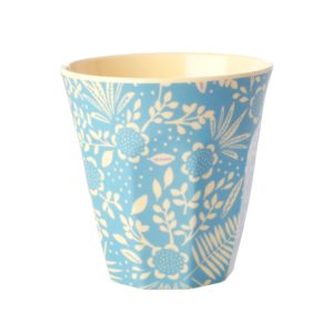 Blue Fern and Flower Print