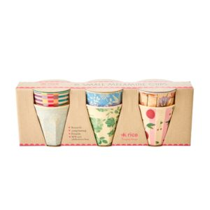 Set of 6 Let's Summer Small Cups