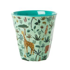 RICE Jungle Animal Prints Medium Cup Green