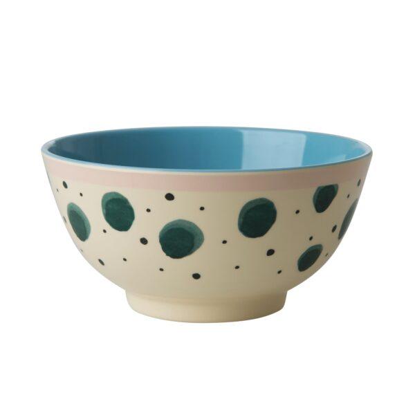 Melamine Bowl Watercolour Splash Print by RICE