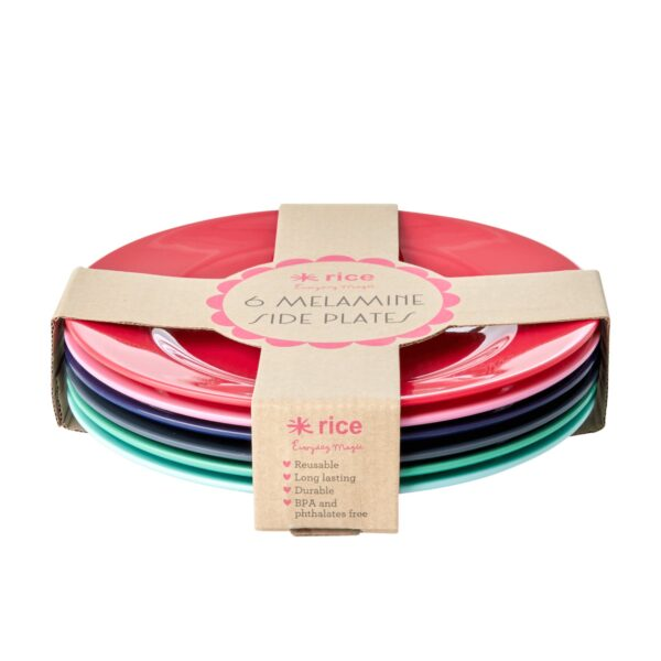 Melamine Lunch Plates 6 Believe in Red Lipstick Colours by RICE
