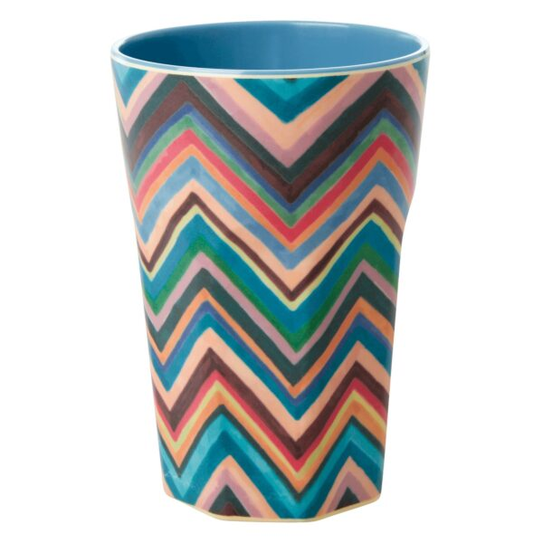 Melamine Tall Cup Zig Zag Print by RICE