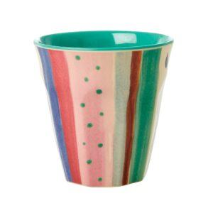Rice Medium Melamine Cup Louises Stripe print