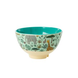 Small Jungle Print Bowl in Green