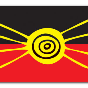 Let's meet up – Aboriginal Style Flag