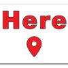 Here – Where? Here! Flag