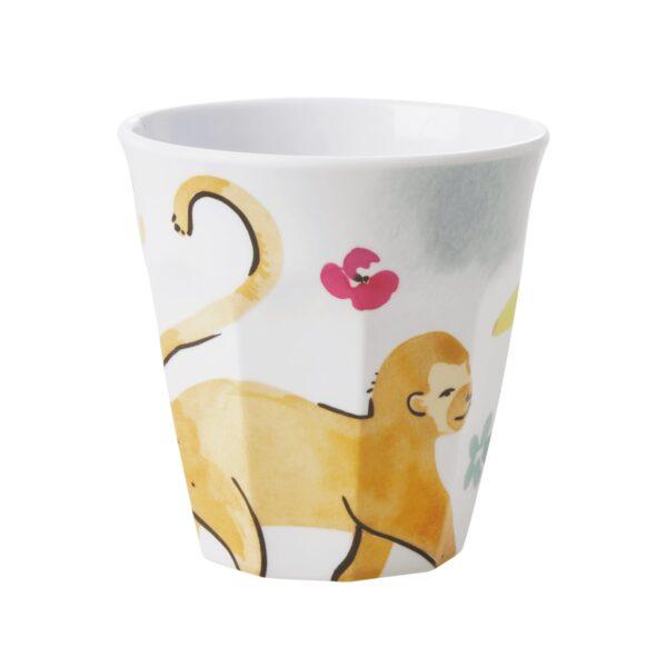 Medium Melamine Cup Monkey Print by RICE