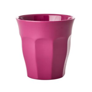 Set of 6 Medium Melamine Cups Simply Yes Colours Magenta
