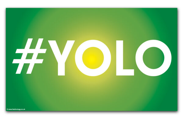 #YOLO – says it all! Flag