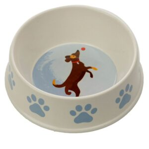 Dog Bowl Paw Prints - Bamboo BAMB98_001_1600871125