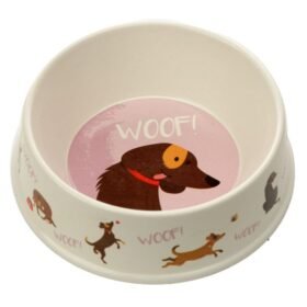 Dog Bowl Woof - Bamboo BAMB99_001_1600871149