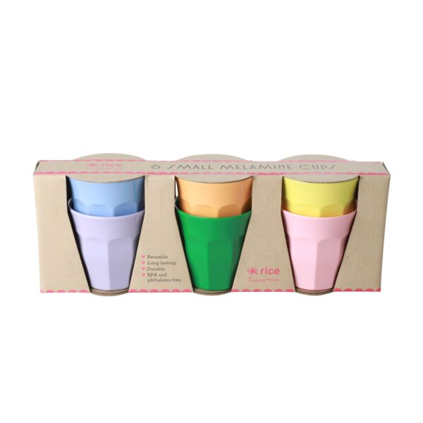 Set of 6 Lets summer small melamine cups MELCU-6ZSLETS_1_2000