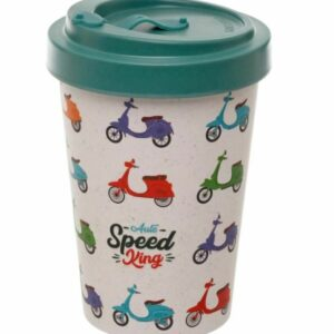 Speed King Scooter Reuseable Screw Top Travel Mug 2 - Bamboo