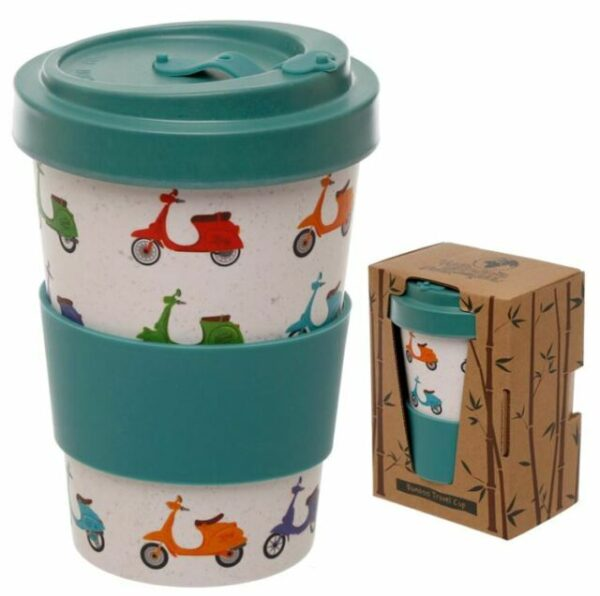 Speed King Scooter Reuseable Screw Top Travel Mug - Bamboo