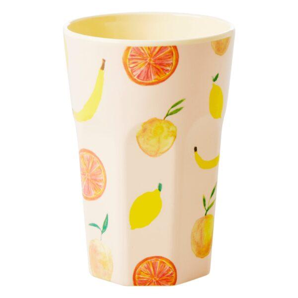 Fruity Print Latte Cup