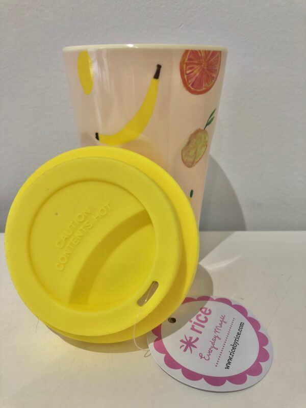Fruity Print Latte Cup with Lid