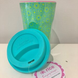 Green Marrakech Print Latte Print with Lid a