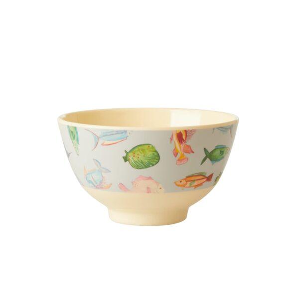 Soft Blue Fish Bowl Rice