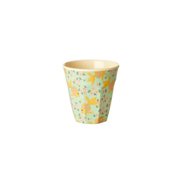 small melamine cups goldfish print a