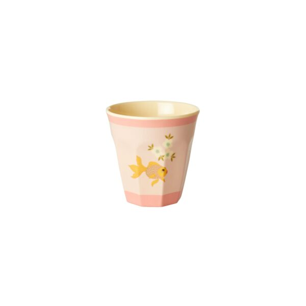 small melamine cups goldfish print b