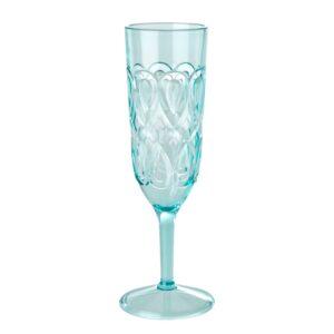 Acrylic champagne flute mint colour