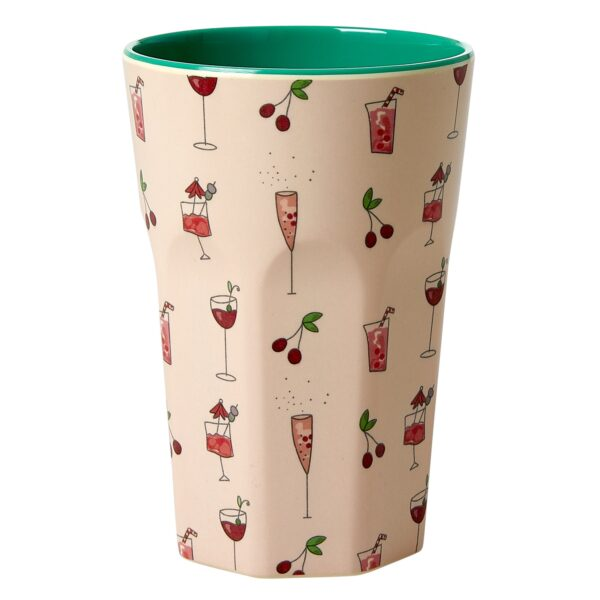 Tall Cup Cocktail Print