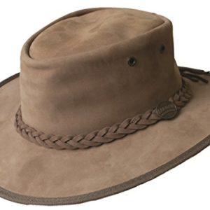 Barmah-Mens-Ladies-Original-Australian-Bronco-Crushable-Foldaway-Leather-Hat-FREE-Reuseable-Bag-B06WPBSH32