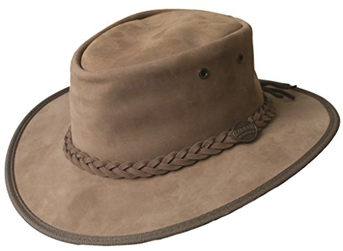 Barmah-Mens-Ladies-Original-Australian-Bronco-Crushable-Foldaway-Leather-Hat-FREE-Reuseable-Bag-B06WPBSH32
