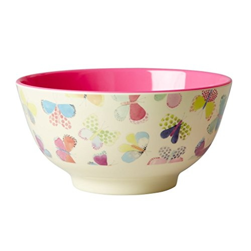 Melamine-Bowl-Two-Tone-with-Butterfly-Print-by-Rice-DK-B01AIK695