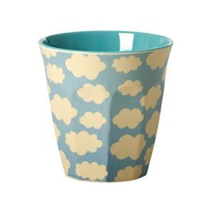 Melamine-Medium-Cup-Two-Tone-with-Cloud-Print-by-Rice-DK-B01M6XM1RZ