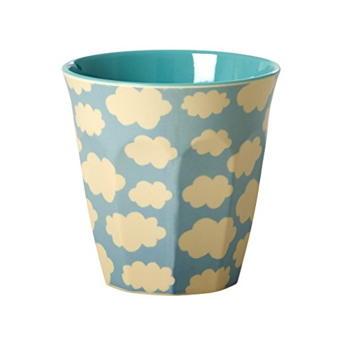 Melamine-Medium-Cup-Two-Tone-with-Cloud-Print-by-Rice-DK-B01M6XM1RZ