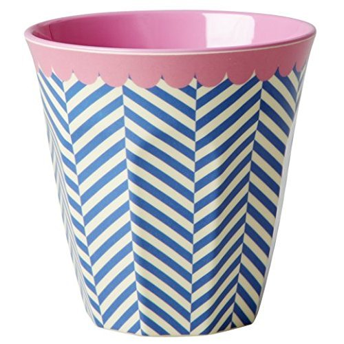 Melamine-Medium-Cup-Two-Tone-with-Sailor-Stripe-Print-by-Rice-DK-by-Rice-Medium-Cup-Two-Tone-with-Sailor-Stripe-Print-by-Rice-DK-by-Rice-
