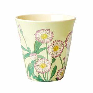 RICE-Melamine-Cup-with-Daisy-Print-B07MYMX3CF